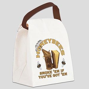 Honeybees Smoke Em Canvas Lunch Bag