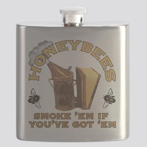 Honeybees Smoke Em Flask