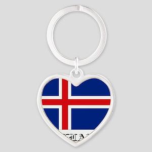 Iceland Heart Keychain