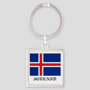 Iceland Square Keychain
