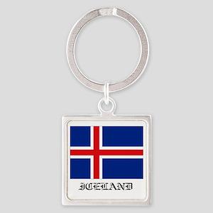 Iceland Square Keychain