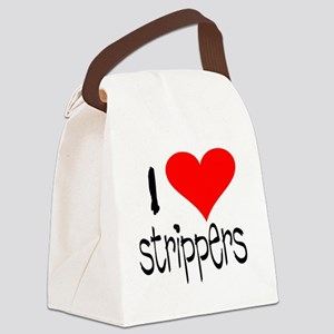 i love strippers copy Canvas Lunch Bag