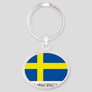 Sweden Oval Keychain