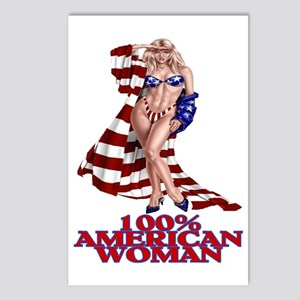 100% AMERICAN WOMAN Postcards (Package of 8)