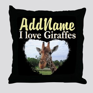 CUTE GIRAFFE Throw Pillow