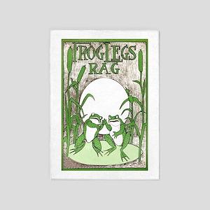Frog Legs Rag 5'x7'Area Rug