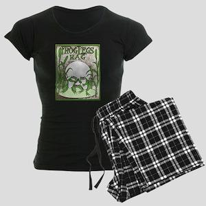 Frog Legs Rag Women's Dark Pajamas