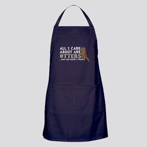 All I Care About Are Otters T Shirt Apron (dark)