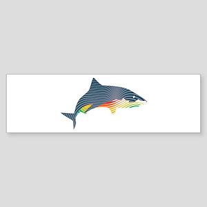 shark swoosh Bumper Sticker