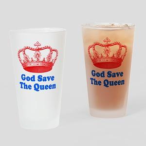 GSTQredblue Drinking Glass