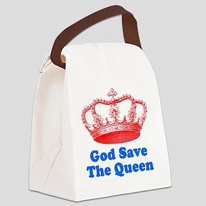 GSTQredblue Canvas Lunch Bag