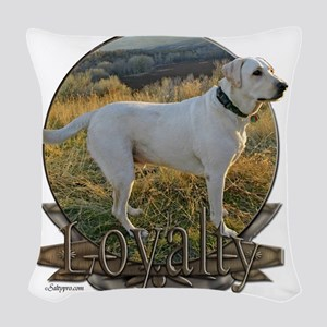 lab crest loyalty 11a Woven Throw Pillow