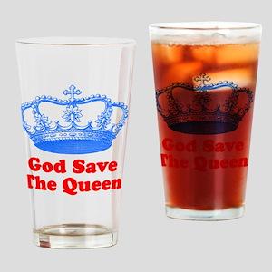 GSTQbluered Drinking Glass
