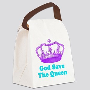GSTQpurpleturq Canvas Lunch Bag