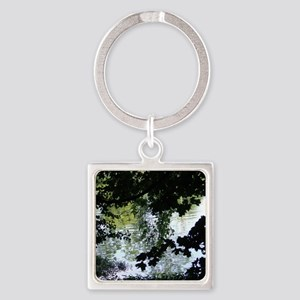 Reflectons in Acton Lake#2 Square Keychain