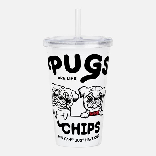 Pug Chips Acrylic Double-wall Tumbler