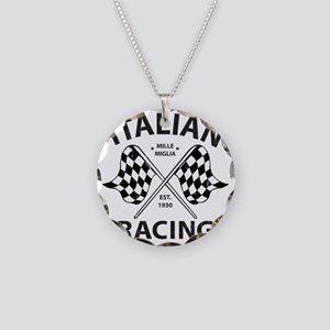 Vintage Italian Racing Necklace Circle Charm