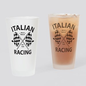 Vintage Italian Racing Drinking Glass