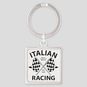 Vintage Italian Racing Square Keychain
