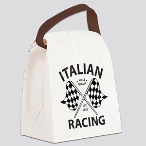 Vintage Italian Racing Canvas Lunch Bag