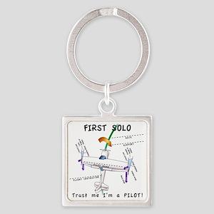 Firstsoloshirt Square Keychain