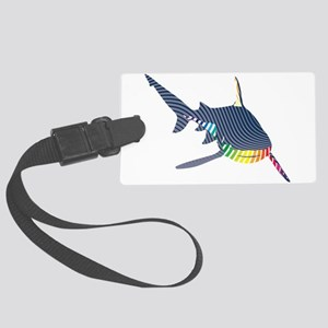 color swirl shark Luggage Tag