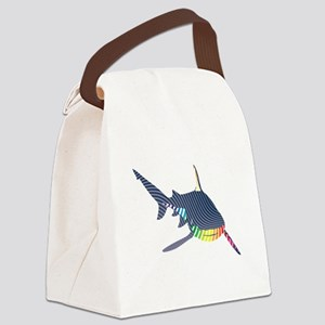 color swirl shark Canvas Lunch Bag