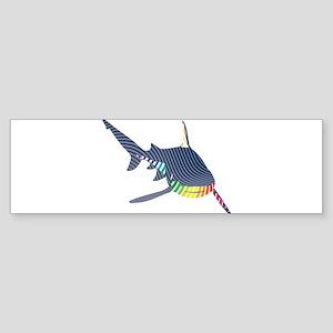 color swirl shark Bumper Sticker