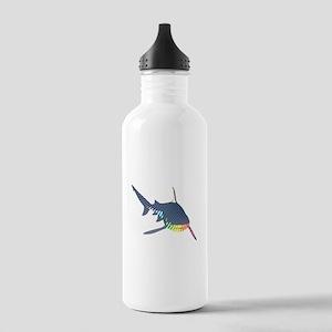 color swirl shark Water Bottle