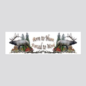 Bull elk and work 36x11 Wall Decal