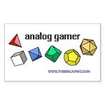 Analog Gamer Rectangle Sticker