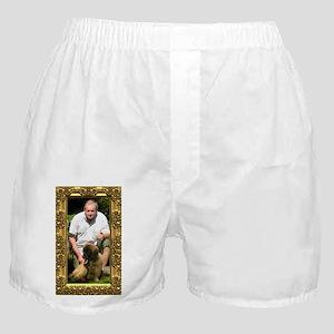 Custom gold baroque framed photo Boxer Shorts