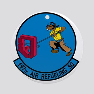 197th Air Refeuling Squadron Round Ornament