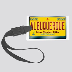 newmexico_licenseplate_albuquerq Large Luggage Tag