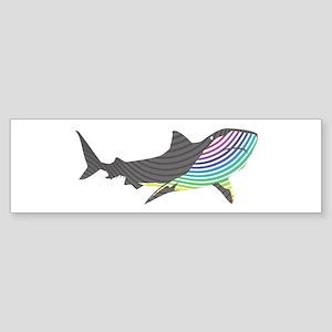 swirl shark Bumper Sticker