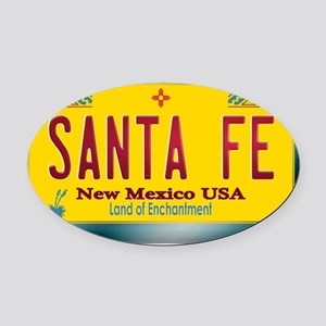 newmexico_licenseplate_santafe Oval Car Magnet