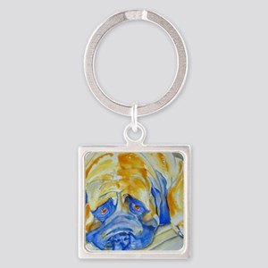 Learn to Relax Square Keychain