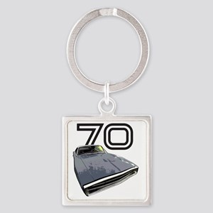 Charger 1970 Square Keychain