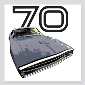 """Charger 1970 Square Car Magnet 3"""" x 3"""""""