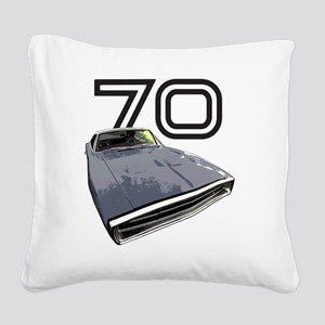Charger 1970 Square Canvas Pillow