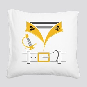 Pirate Square Canvas Pillow