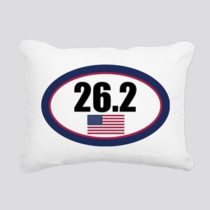 USA-262-OVALsticker Rectangular Canvas Pillow