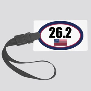 USA-262-OVALsticker Large Luggage Tag