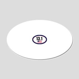 USA-131-OVALsticker 20x12 Oval Wall Decal