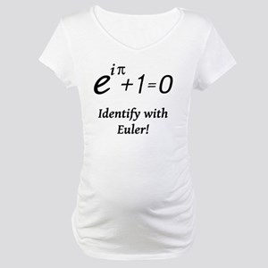 identifyWithEuler-blackLetters Maternity T-Shirt