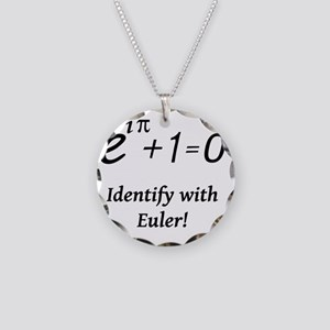 identifyWithEuler-blackLette Necklace Circle Charm