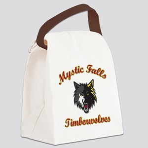 MFTimberwolves WhtBlk Canvas Lunch Bag