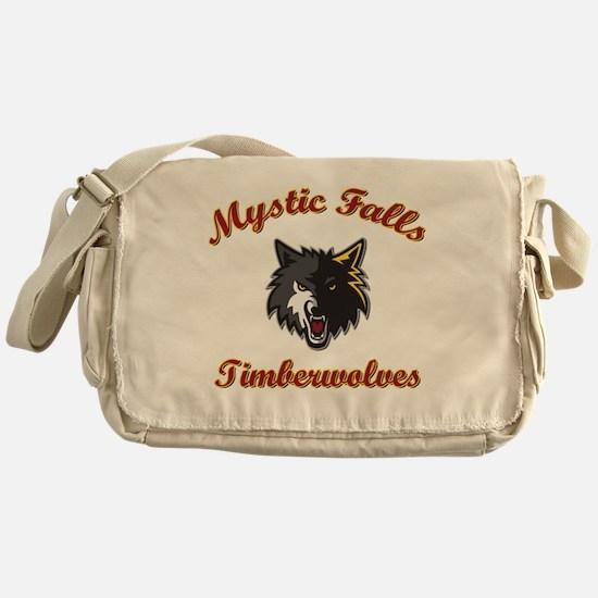 MFTimberwolves WhtBlk Messenger Bag