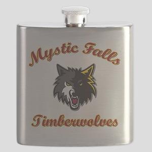 MFTimberwolves WhtBlk Flask