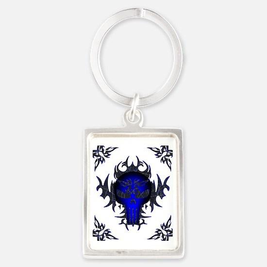 Blue52x62w Portrait Keychain